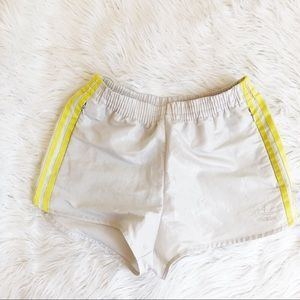 Vintage Adidas Yellow Stripe Shorts